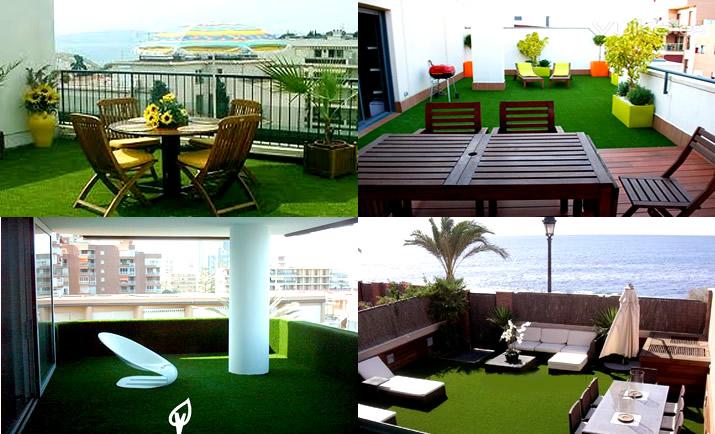 Cesped sintetico para terrazas dise os arquitect nicos - Cesped en terraza ...